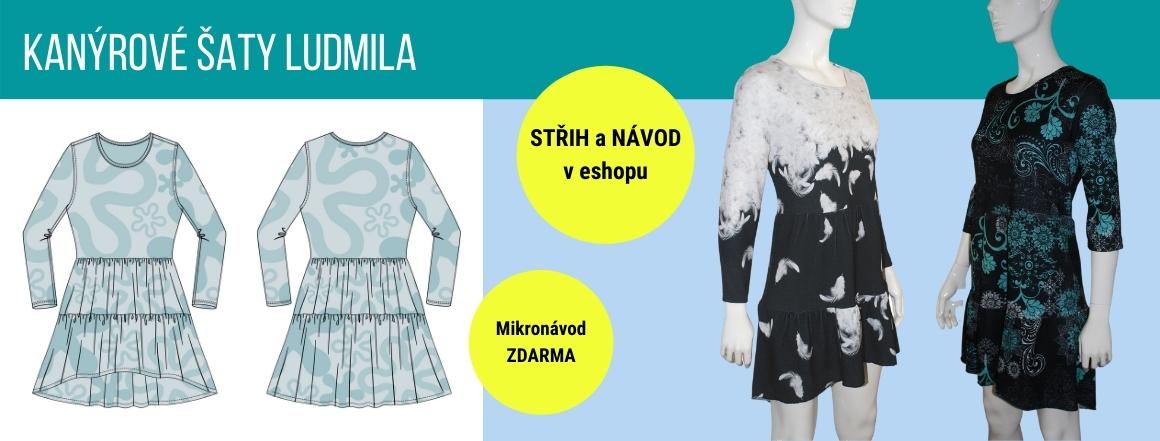 Nový střih a návod na kanýrové šaty Ludmila.
