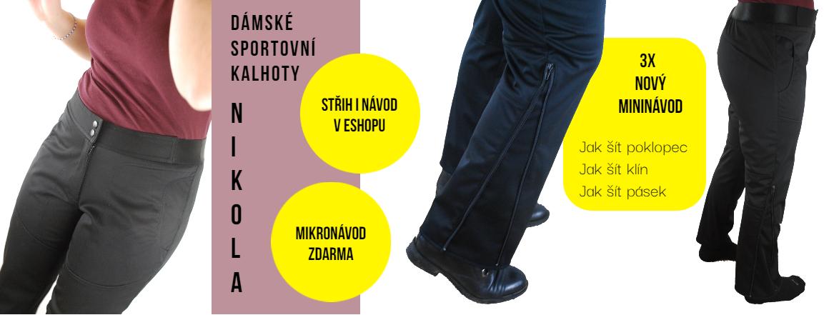 Dámské sportovní kalhoty Nikola - střih i návod v eshopu