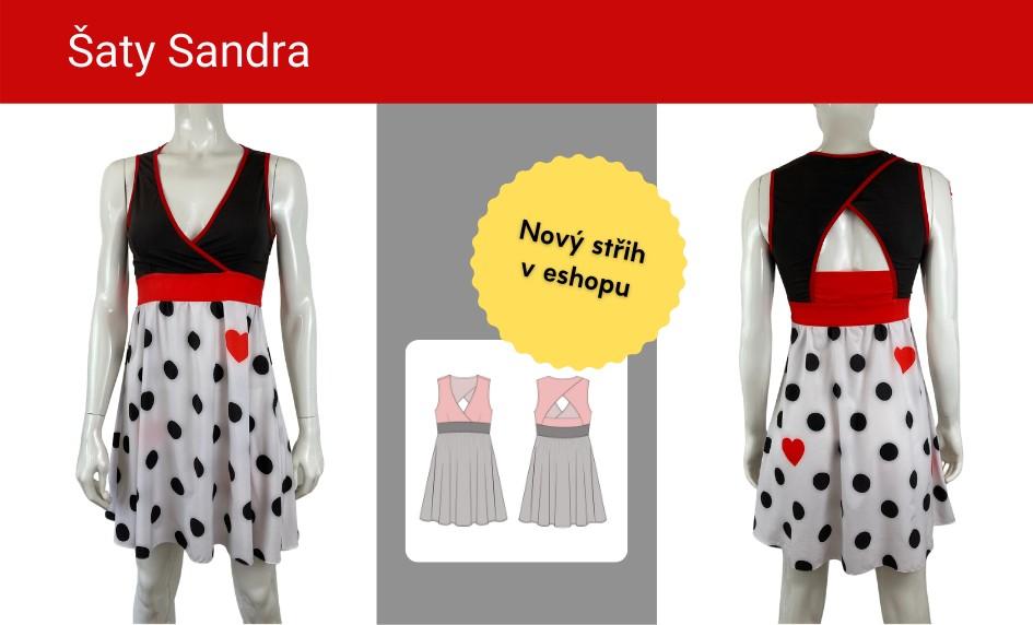 Nový střih na šaty Sandra v eshopu