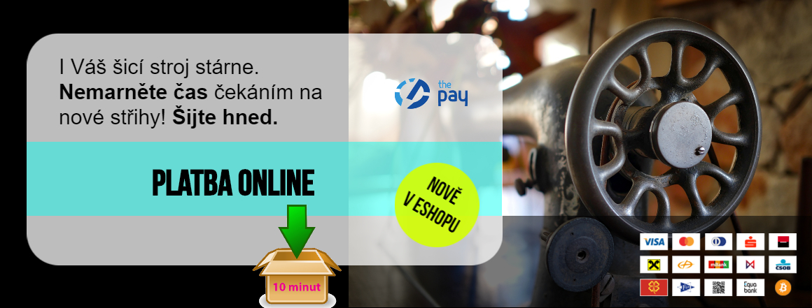 Platba online nově v eshopu Šijeme hravě