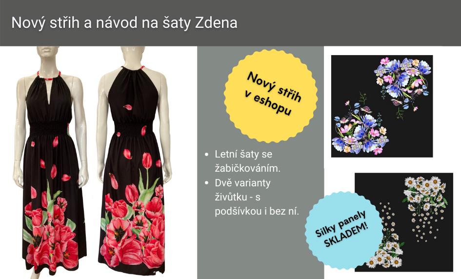 Nový střih a návod na šaty Zdena