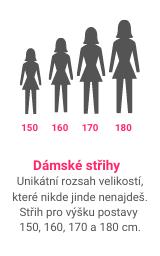 střihy pro malé i velké ženy