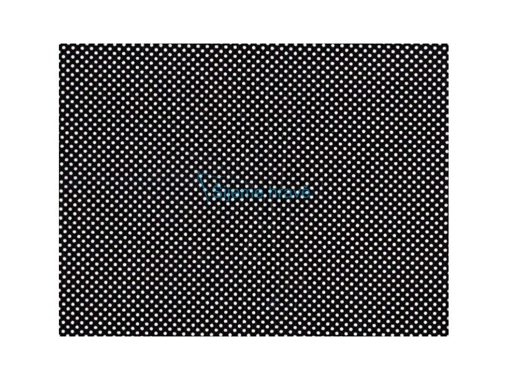 Vrchní díl balerínek - černá bílý puntík malý