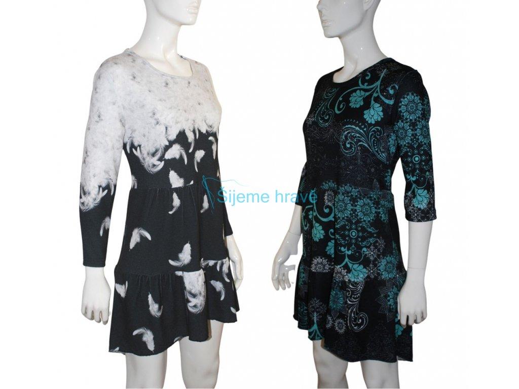 Střih na kanýrové šaty Ludmila