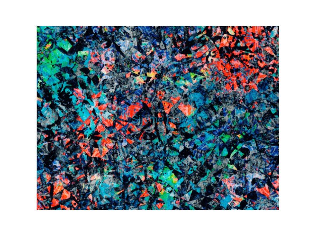 Vrchní díl bavlna Amerika Tmavý abstrakt