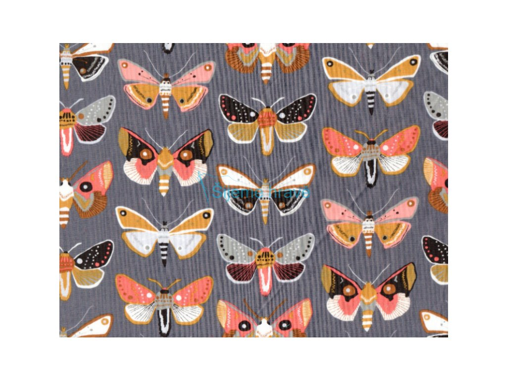 Vrchní díl bavlna Amerika Motýli