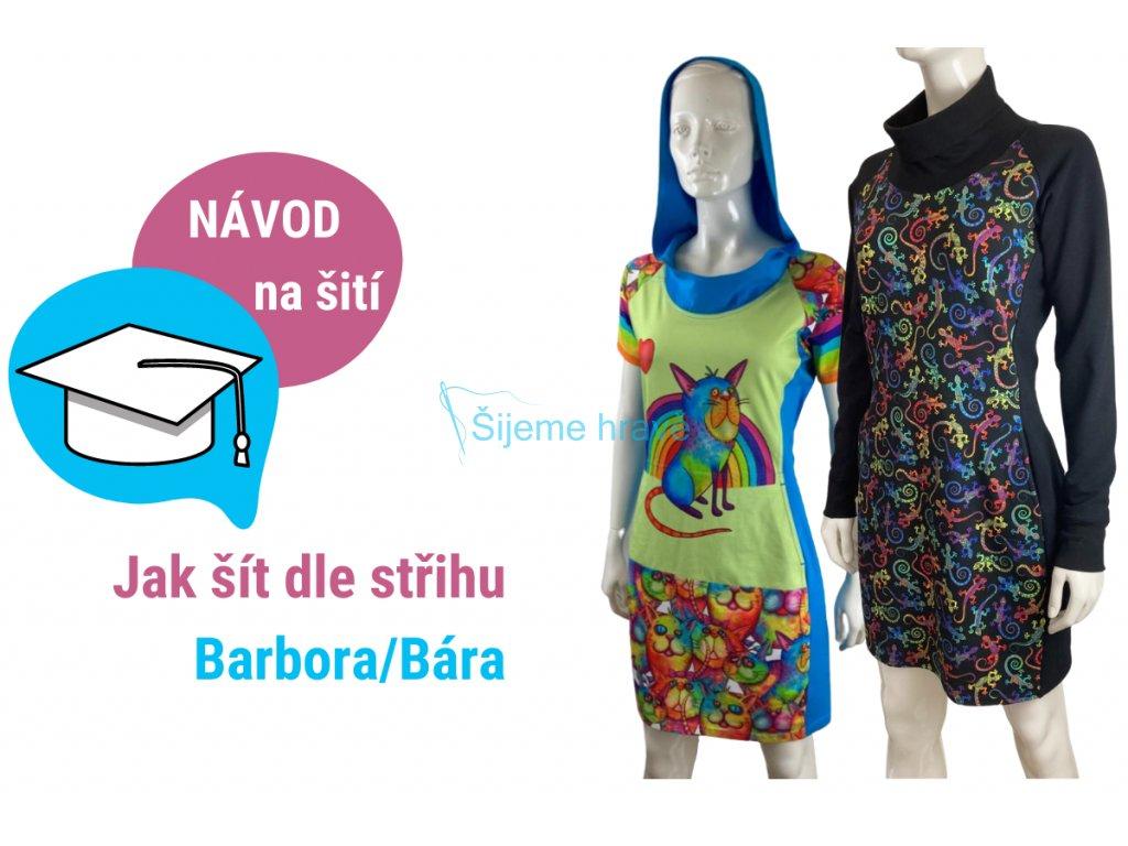 šaty barbora a bára návod na šití