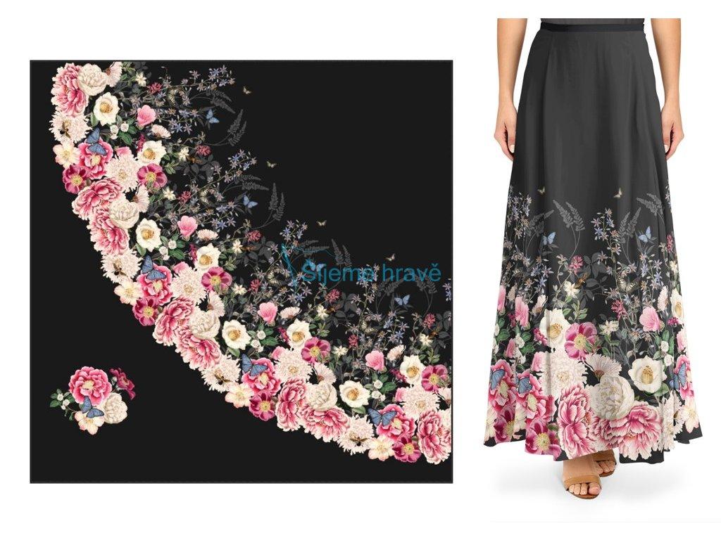 panel silky vintage dlouha pulkolova sukne
