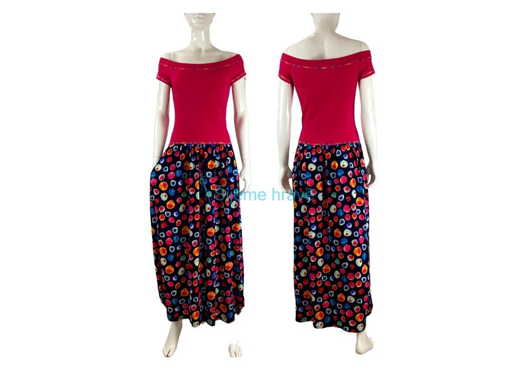 Střih na šaty Kamila - dlouhé šaty s kapsami