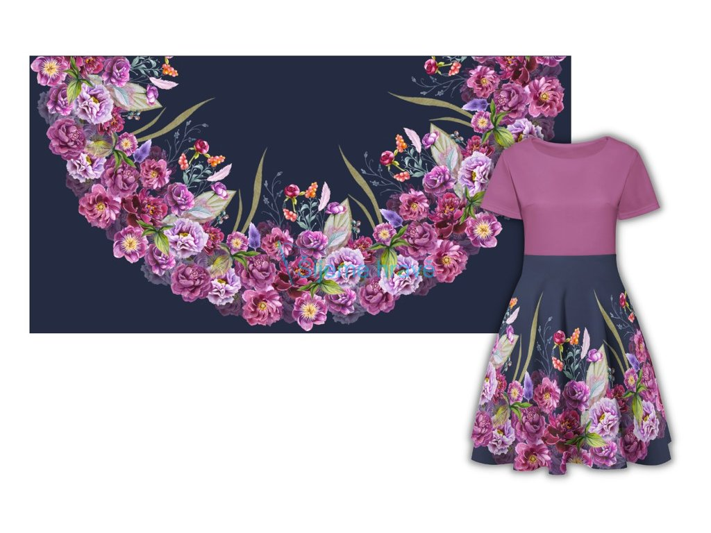 panel pulkolova sukne bavlneny uplet 180x90 pivonky