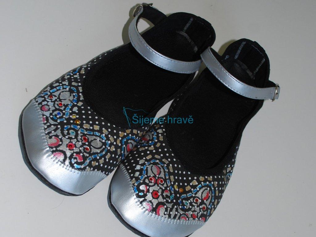 Barefoot balerínky vykrojené - NÁVOD