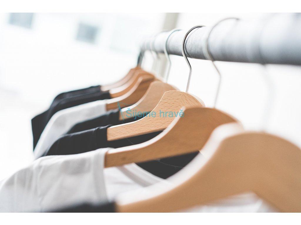 wooden t shirt hangers in fashion apparel store 2 picjumbo com
