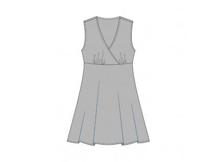 Modelace střihu na šaty překřížené pod prsy
