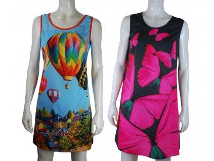 Střih na letní šaty Marta ze silky