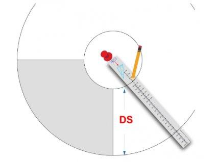 Malé chytré pravítko pro konstrukci kolových a půlkolových sukní