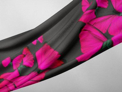 kolová sukně silky pavučinka letní látka