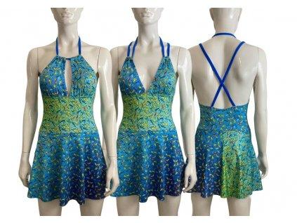 Střih na jednodílné dámské plavky se sukýnkou - Květa