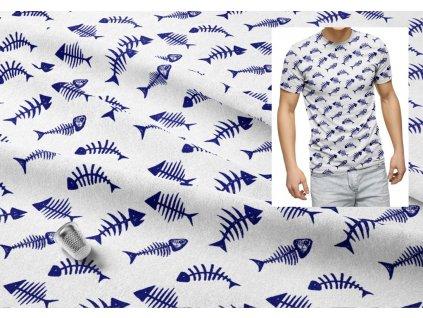 panel bavlneny uplet rybi kustky