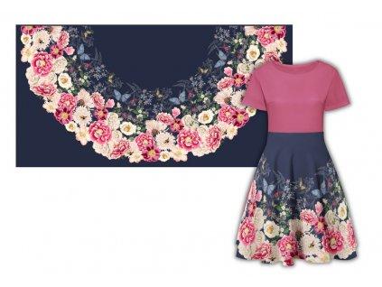 panel pulkolova sukne bavlneny uplet 180x90 vintage tmavě modrý