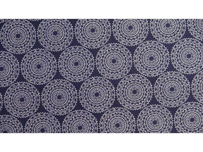 Vrchní díl bavlna mandala modrá