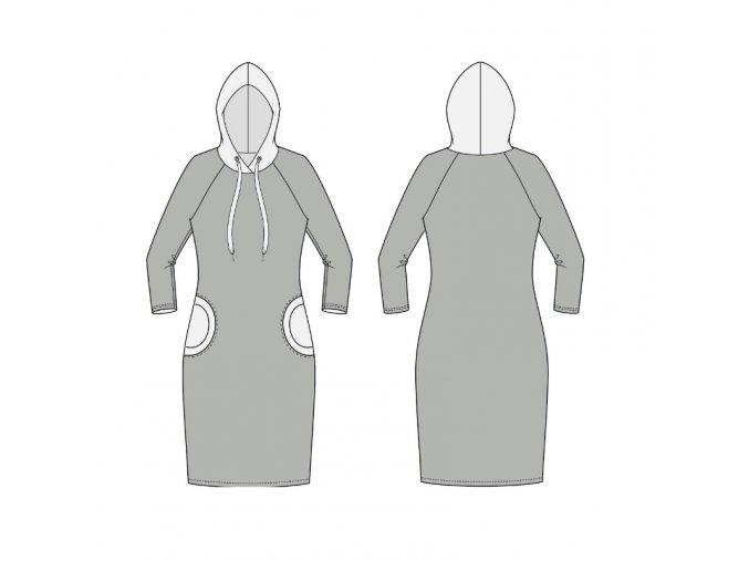 Modelace střihu na raglánové šaty