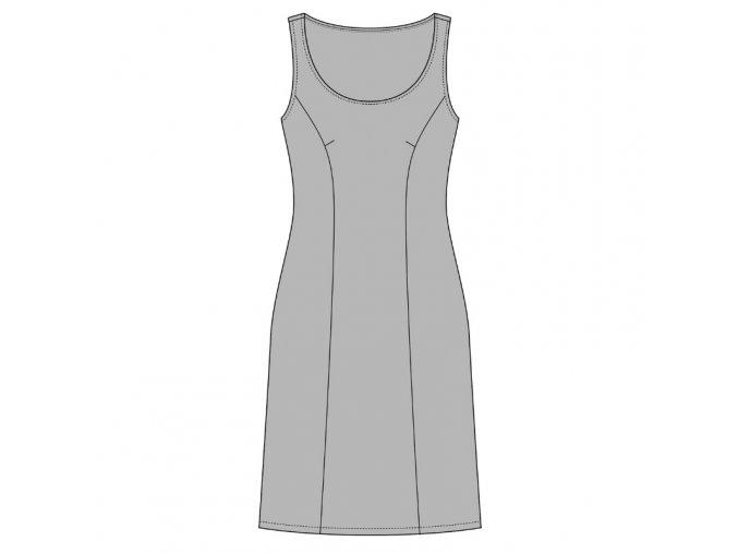 Modelace střihu na princess pouzdrové šaty