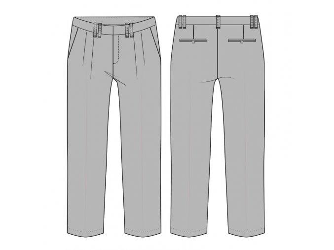Modelace střihu na kalhoty se záhyby