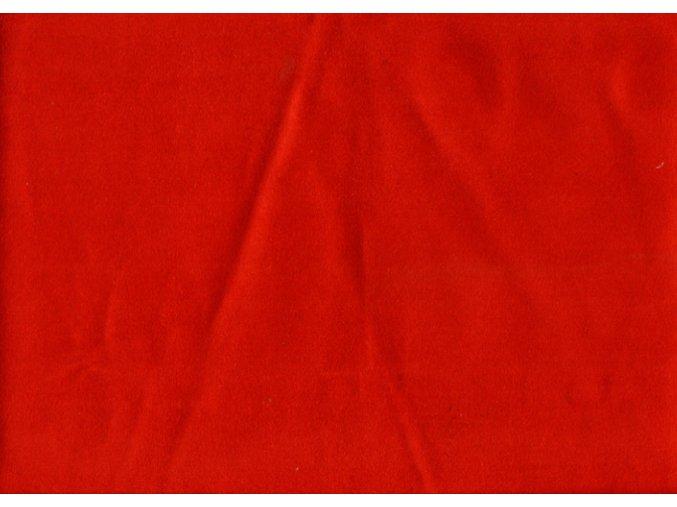 Vrchní díl balerínek - tmavě červená syntetická kůže
