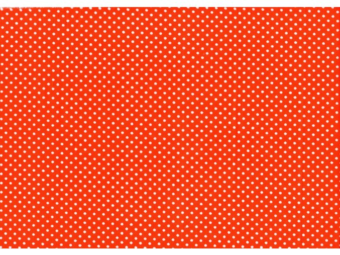 Vrchní díl balerínek - červená bílý puntík malý