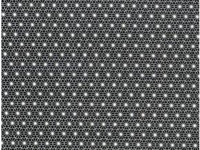 Vrchní díl bavlna černobílá kytička