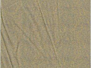 Vrchní díl bavlna Amerika žlutobéžové mráčky