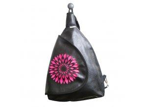 Batoh s klopou - Růžová květina