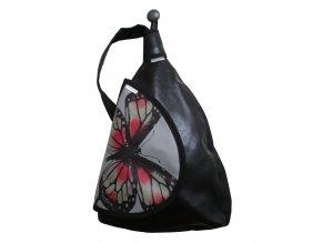 chamelea batoh šedočervený motyl 02