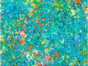 Vrchní díl bavlna Amerika Tyrkys abstrakt