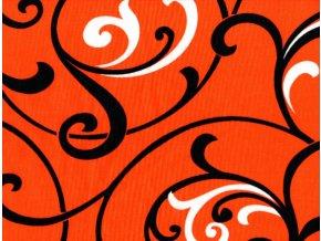 Vrchní díl balerínek - červený ornament