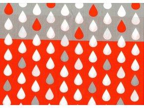 kapky červenobéžová