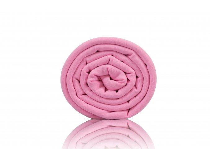 Teplákovina nepočesaná baby pink