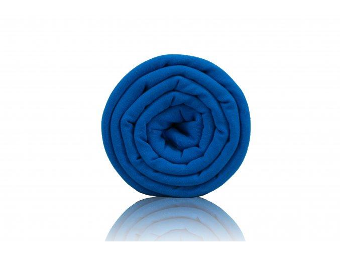 Teplákovina nepočesaná modrá