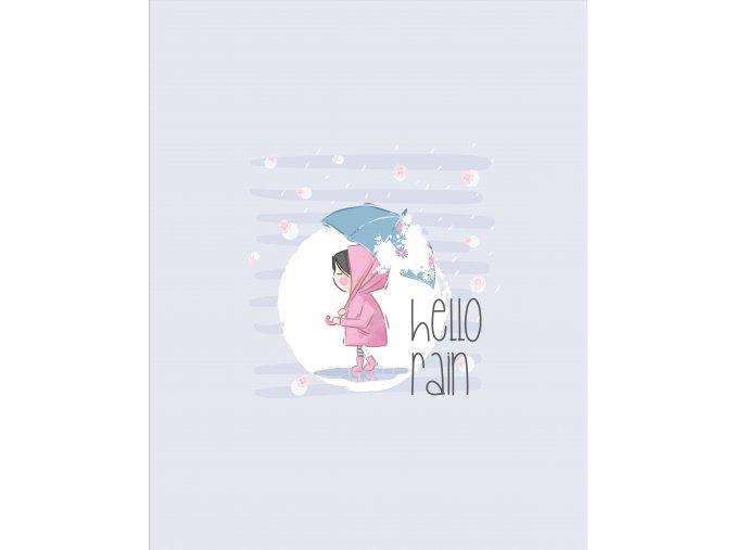 Panel holčička s deštníkem