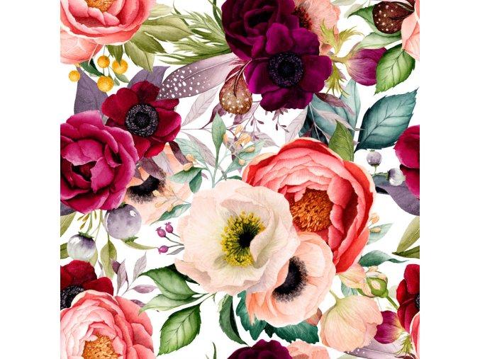 květy tisk