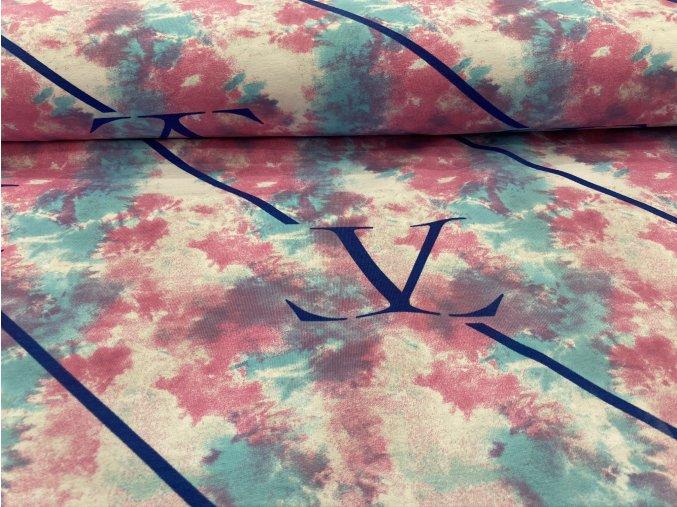 Teplákovina nepočesaná batika LV