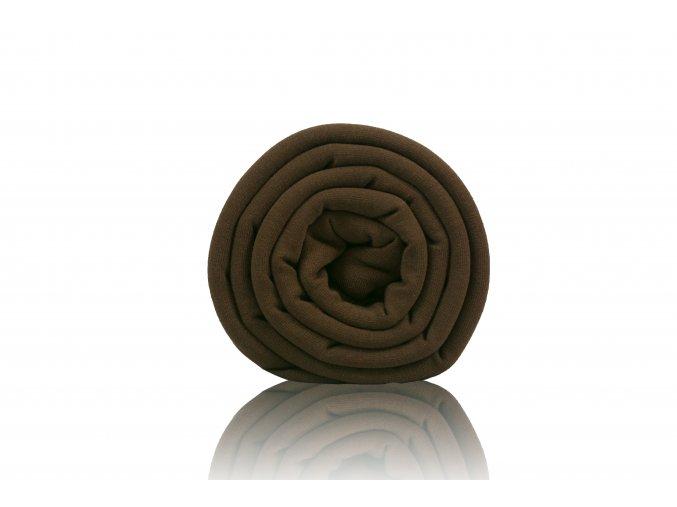 Teplákovina vysoká gramáž tmavá čokoláda