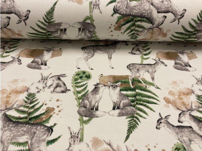 Teplákovina nepočesaná jeleni na bílé