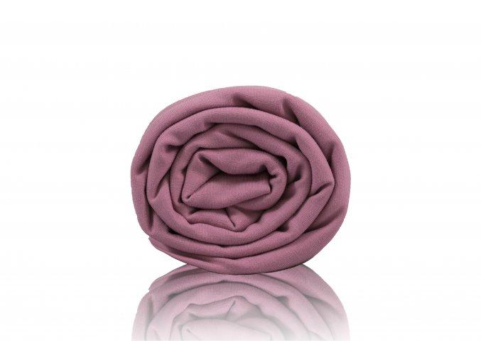 Teplákovina počesaná staro růžová