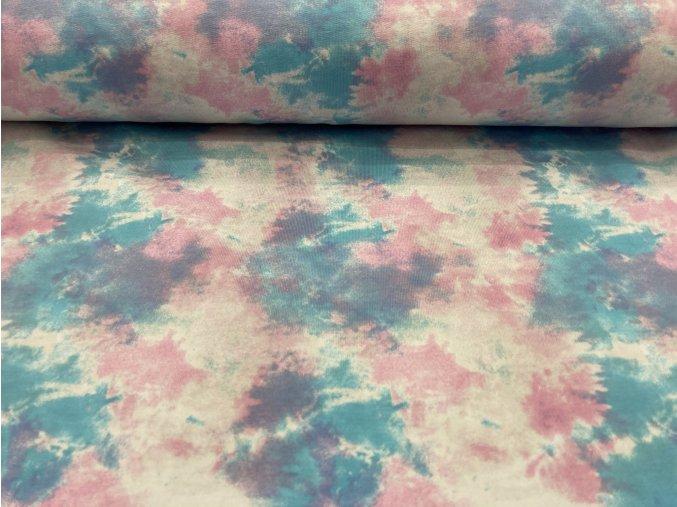 Teplákovina nepočesaná batika