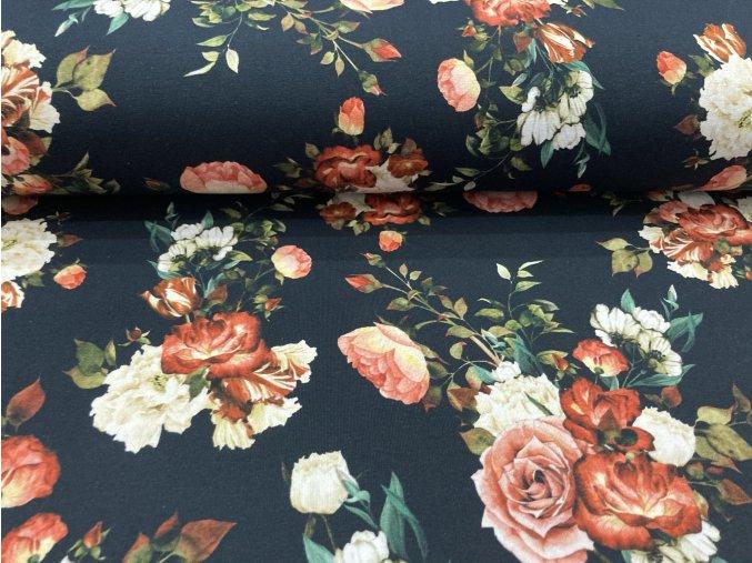 Teplákovina nepočesaná růže na černé