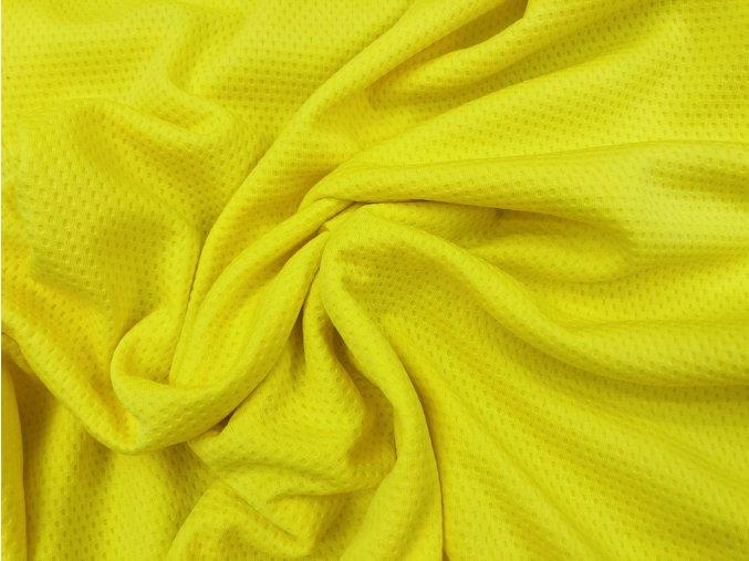 Úplet sportovní žlutý perforovaný