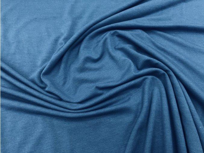 Úplet viskózový tmavě modrý