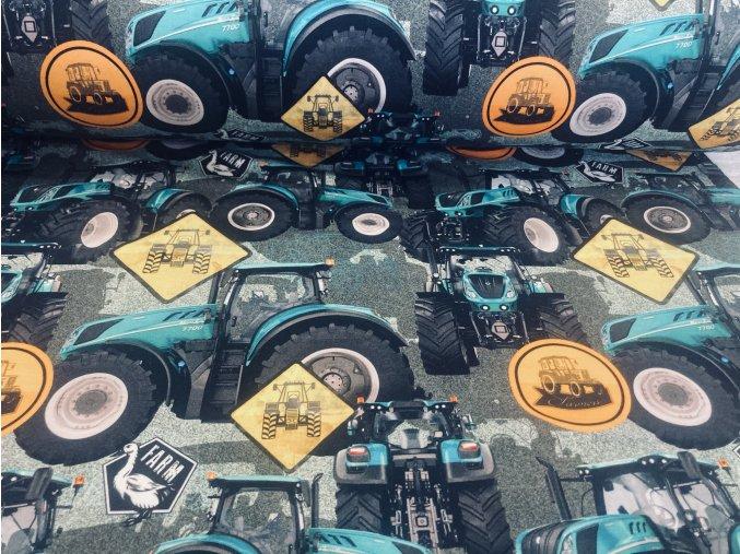 Teplákovina nepočesaná traktor