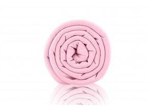 Teplákovina nepočesaná růžovo fialová